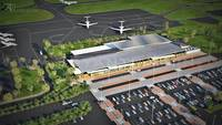 3D Airport Exterior rendering Design Spain