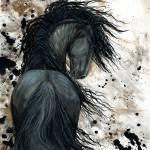 """""""DreamWalker - Friesian Horse"""" by AmyLynBihrle"""