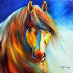 """GOLDEN GYPSY VANNER"" by MBaldwinFineArt2006"