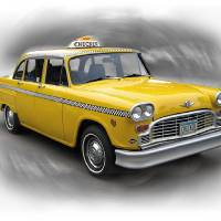 1982 Checker Cab Art Prints & Posters by Ron Long