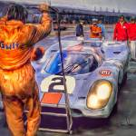 """Porsche 917 at Le Mans"" by ArtbySachse"