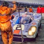 """""""Porsche 917 at Le Mans"""" by ArtbySachse"""
