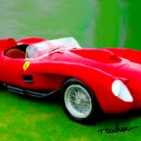 Ferrari 250, Testa Rossa Art Prints & Posters by Tom Sachse