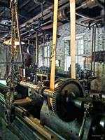 Large Lathe in Machine Shop
