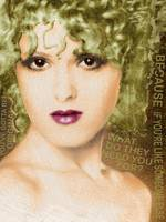 Bernadette Peters Gold and Quote