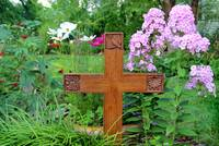 Cross in Garden by George Wood