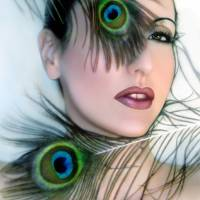 Feathered Beauty - Self Portrait Art Prints & Posters by Jaeda DeWalt