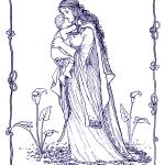 """Mother and Child 1894 Drawing"" by WilshireImages"