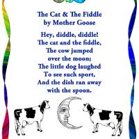 The Cat And The Fiddle, Mother Goose Art Prints & Posters by Marian Cates