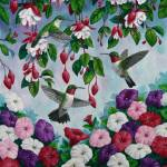 """Hummingbird Flower Garden"" by csforest"