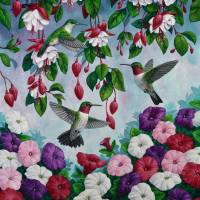 Hummingbird Heaven Art Prints & Posters by Crista Forest
