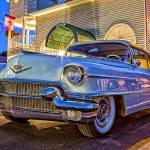 """Classic Vintage Cadillac at Night"" by fielding"