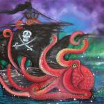 """""""A Pirates Tale - Attack Of The Mutant Octopus"""" by ArtPrints"""