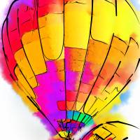 The Yellow and Red Balloon Art Prints & Posters by Kirt Tisdale