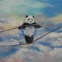 Panda Tightrope Art Prints & Posters by Michael Creese