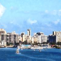 San Juan Skyline Art Prints & Posters by Susan Savad