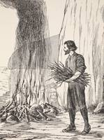 Robinson Crusoe cooking