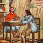 """""""Robinson Crusoe and Friday"""" by fineartmasters"""