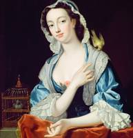 Portrait of Peg Woffington (1718-60) (oil on canva