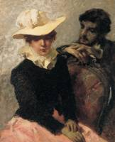 Aurora (The painter and his girlfriend), 1884 (oil