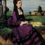 """Portrait of a Woman in Lilac, 1874 (oil on canvas)"" by fineartmasters"