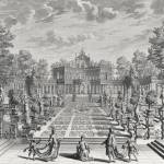 """Setting for an opera in a garden, from"