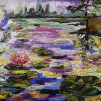 Life By The Lily Pond Art Prints & Posters by Ginette Callaway