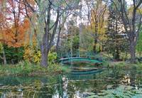 Green Bridge Autumn Lake