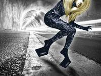 Lady Gaga In City Tunnel
