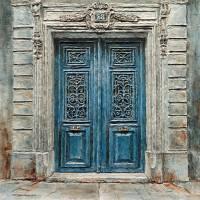 Parisian Door No.28 Art Prints & Posters by Joey Agbayani