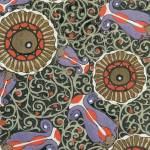 """Wallpaper design, c.1908 (pochoir print) - detail"" by fineartmasters"