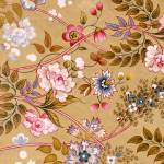 """Flowered Textile Design, possibly by William Kilbu"" by fineartmasters"