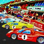 """Fords 1967 Victory at LeMans"" by ArtbySachse"