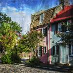 """Charleston Pink House on Chalmers Street"" by GinetteCallaway"