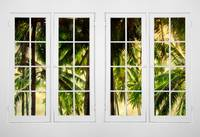 Jungle Paradise Plantation Double 16 Pane Window