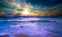 Sunrise Seascape Photography Blue Sea Art Prints