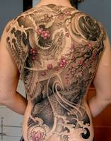 Japanese Tattoos Art on Back