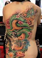 Japanese dragon tattoo