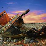 """Wrecked Trawler"" by elvimage"