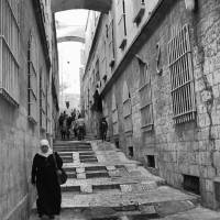 Nun's Ascent - a street in Old Town Jerusalem, Isr Art Prints & Posters by Jim Nesterwitz