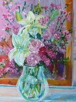 June Flowers in Vase