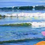 """Surfer at Sunset Cliffs San Diego California"" by BeaconArtWorksCorporation"