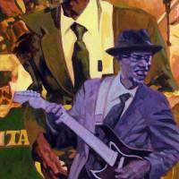 Guitar Man Art Prints & Posters by Kenneth Calvert