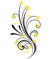flourish yellow flowers and butterfliesnb