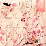 """flowers and birds background_pe"" by lizmix"