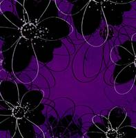 outline floral dark purple