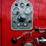 """Gauges on Vintage Fire Truck"" by susansartgallery"