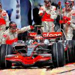 """Mercedes, Formula One Pitting"" by ArtbySachse"
