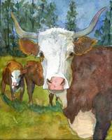 Animal Art | Steer Clear | farm art