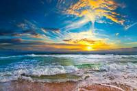 beautiful beach sunset the eternal sea landscape